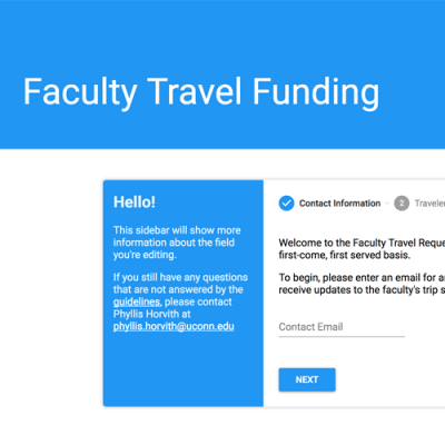 Faculty travel funds